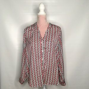 GAP lovely heart print long sleeve blouse top.